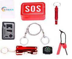 STMAN Outdoor Emergency Survival Gear Kit SOS Survival Tool Pack 6 Piece One Pack