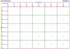 Pool Template | Printable 25 square football pool sheet Super Bowl ...