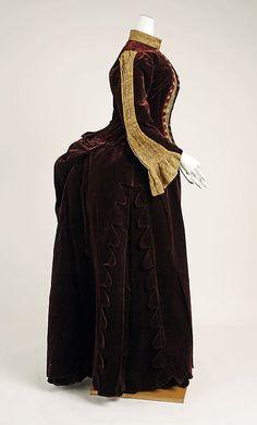 Dress Date: 1887–89 Culture: American Medium: silk, metallic