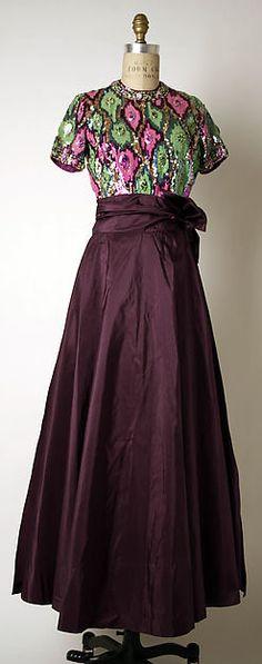 Evening dress Madame Grès (Alix Barton) (French, Paris 1903–1993 Var region) Date: late 1960s Medium: silk