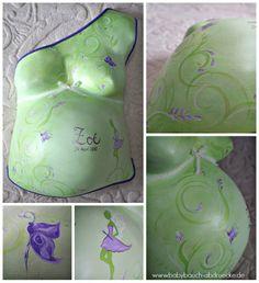 Fairytal - Baby belly cast in green & purple By Julia Schulze www.mommyandbaby.de