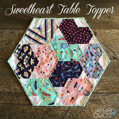 Sweetheart Table Topper Tutorial from Jaybird Quilts | Dear Stella Design