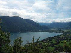 Bout du lac d'Annecy depuis le taillefer à Duingt