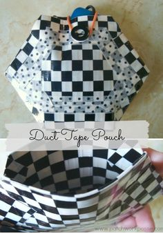 Hexagon Duct Tape Pouch - perfect tween craft - love this!