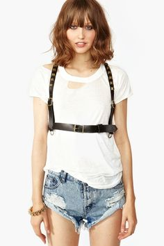 Is it weird that I want this? Stud Leather Harness