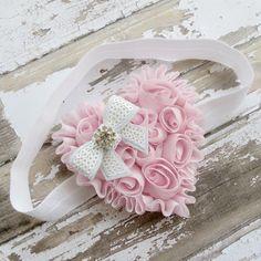 Baby HeadbandValentine HeadbandPink by AddysAtticOnEtsy on Etsy, $8.50
