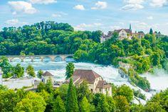 Three Incredible Day Trips from Zurich — Kevin & Amanda Rhine Falls Switzerland, Switzerland Trip, River Cruises In Europe, Swiss Travel, Train Tour, Zurich, Summer Travel, Day Trips, Passport
