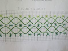 Simple border for pillowcase, use a shiny cord for the lines. Hand Embroidery Stitches, Embroidery Art, Embroidery Applique, Cross Stitch Embroidery, Hand Stitching, Embroidery Designs, Chicken Scratch Embroidery, Swedish Embroidery, Mini Album Tutorial