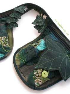 Fantasy belt bag Fairy hip pack with ivy leaves and por Nomadum                                                                                                                                                                                 Más