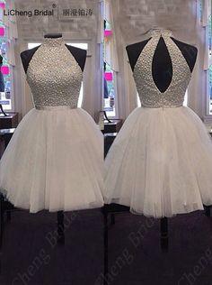 Sexy halter off the shoulder cocktail dress Sleeveless ball gown vestidos de fiesta largos elegantes 2017