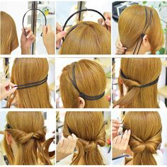 Double Layer Hair Clip Head Wear Rope