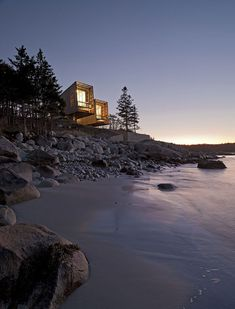 Evening Lighting, Home in Port Mouton, Nova Scotia