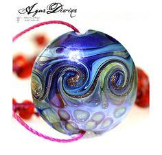 Agua Divina Lampwork Bead Handmade Glass Focal