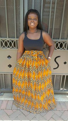 Light Brown Maxi High Waist Skirt African by MsAlabaAfricanShop Waist Skirt, High Waisted Skirt, African Dress, African Fashion, Brown, Skirts, Stuff To Buy, Clothes, Dresses