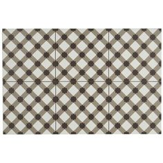 Shop Hand-Made Encaustic Look 8X8 Plaid White & Brown Decorative Blend - Free Shipping On Orders Over $45 - Overstock - 23484214