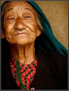 Beautiful old lady from Darap(Sikkim) village by Sukanto Debnath, via Flickr