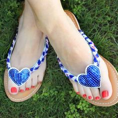 Flip-flops are stylish, patriotic and comfortable. They're the perfect accessories for Memorial Day.
