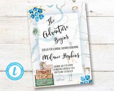 Traveling From Miss to Mrs Invitation, Traveling Bridal Shower,  Adventure Love is a Journey Instant download PRINTABLE DIGITAL DIY Travel Bridal Showers, From Miss To Mrs, Rsvp, Traveling, Journey, Printable, Invitations, Templates, Adventure