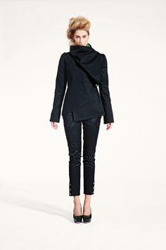 Kabátek s velkým límcem, asymetrický – MOLO7 Blazers, Normcore, Coats, Style, Fashion, Swag, Moda, Wraps, Fashion Styles