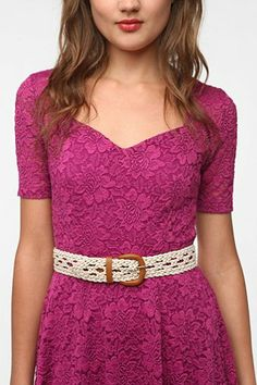 Kimchi Blue Stretch-Crochet Belt - Urban Outfitters