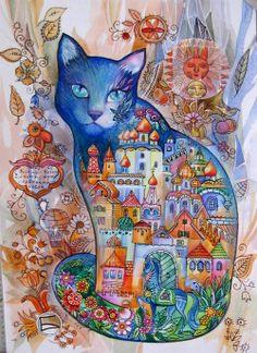 """""""Turquoise Cat"""" par Oxana Zaika"""