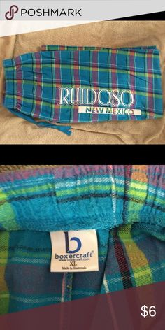 Plaid pajama pants Size XL Plaid pajama pants Size XL Super cute and Gently Used ( these are long) I'm 5ft 7in 1/2 and they are long on me. So if your tall and want some comfy pajamas bottoms that don't high water on you. These are the pajamas bottoms for you. Plus there a great price. 😊😊😊 BOXERCRAFT  Intimates & Sleepwear Pajamas