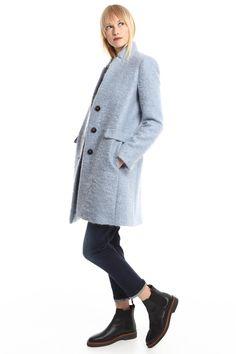 Acquista 2016 Moda Donna Trench Cappotto Di Lana Inverno Slim Lungo Collo Di Mandarino Cappotto Rosso Nero Cappotti Capispalla Lungo Di Lana Le Donne