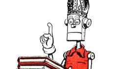 This piece notes how a robot is giving lectures in theology – or perhaps it would be more accurate to say that it's being used as a prop for some theology lectures.