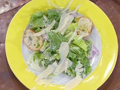 Romaine Salad with Creamy Garlic Dressing and Roasted Garlic Croutons recipe from Emeril Lagasse via Food Network