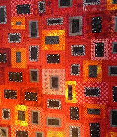 """""""Sunset on the Rock"""" by Carolyn Davis. Hunter Hill Quilt show 2012. Posted by Material Obsession (Australia)"""