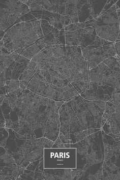 Paris, France poster - Routelines: detailed posters and prints of cities and their roads