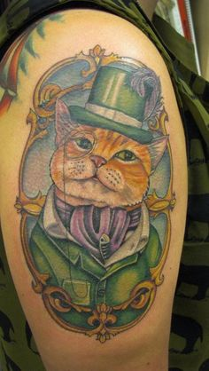 Gentleman Cat Tattoo...I REALLY think I need something like this of Disco.