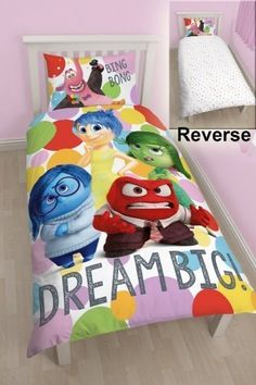 Disney Inside Out Emotions Panel Single Duvet Cover ** Details can be found by clicking on the image.