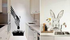Наклейки настенные в интерьере кухни