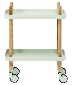 Block Supplement table - On wheels Mint by Normann Copenhagen - Design furniture and decoration with Made in Design