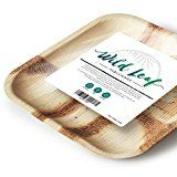 Disposable Palm Leaf Plates - 10 Inch Square, 25 Pack - Compostable, Biodegradable & Eco-Friendly Dinner Party Plates - Sturdy Alternative to Plastic, Wood or Bamboo Tableware - by Wild Leaf Party Plates, Dinner Plates, Camping Cakes, Camping Theme, Palm Leaf Plates, Disposable Plates, Plastic Plates, Camping Essentials, Biodegradable Products