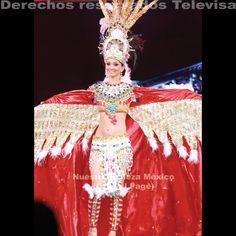 Concurso Trajes Típicos 2011 angel azteca de fernando lopez ponce de sinaloa, portado por NBS 2011 Grecia Gutierrez.
