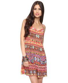 Vibrant Tribal Dress | FOREVER21 - 2062097139    love it