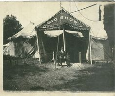 """Anonymous photograph of the entrance (""""Big Show"""") to a circus in the early part of the 20th century."""