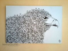 AWESOME DOODLING!  DOODLE ART: Save the Philippine Eagle by kerbyrosanes.deviantart.com on @deviantART
