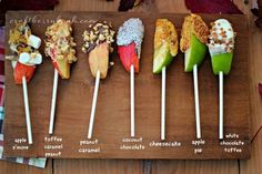 Great idea- apple pops! A fun alternative to cake pops #apple #snacks #pops