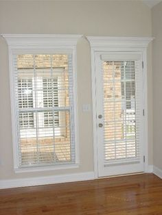 window moulding and beige walls