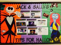 Halloween party safety for college students!  Bulletin board from another university.