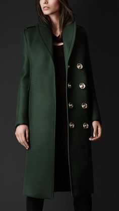 Bonded Wool Military Caban | Burberry
