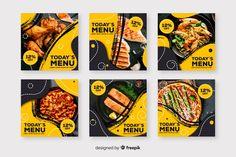 Discover thousands of free-copyright vectors on Freepik Social Media Banner, Social Media Template, Social Media Design, Food Graphic Design, Food Menu Design, Instagram Design, Instagram Posts, Food Instagram, Fb Banner