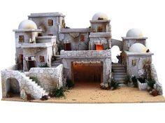 Resultado de imagen para case presepe palestinese Fantasy Miniatures, Dollhouse Miniatures, Fontanini Nativity, Medieval Houses, Homemade Christmas Decorations, Wargaming Terrain, Ceramic Houses, Christmas Nativity, Mountain Village