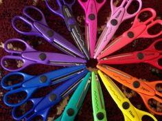 A rainbow of scissors!