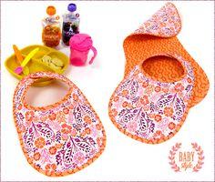 Bib and Burp Cloth Set | Sew4Home