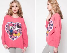 90s Mickey Mouse Love Crewneck by rumors on Etsy, $42.00