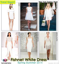 Fishnet White #Dress Fashion #Trend for Spring Summer 2014 at New York #Fashion Week #NYFW #Cutout #Spring2014 #Trends #trendy #white